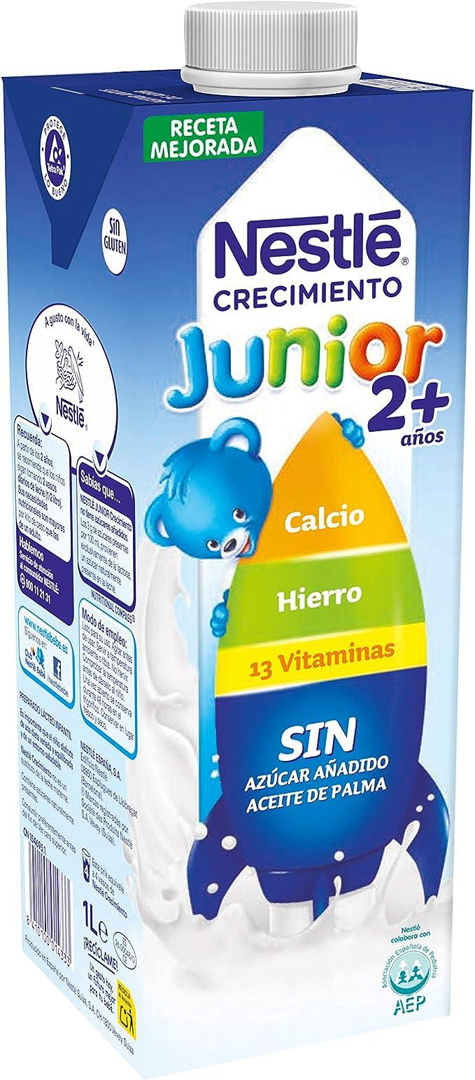 NESTLÉ JUNIOR 2+ Original - Leche para niños a partir de 2 años - 1L