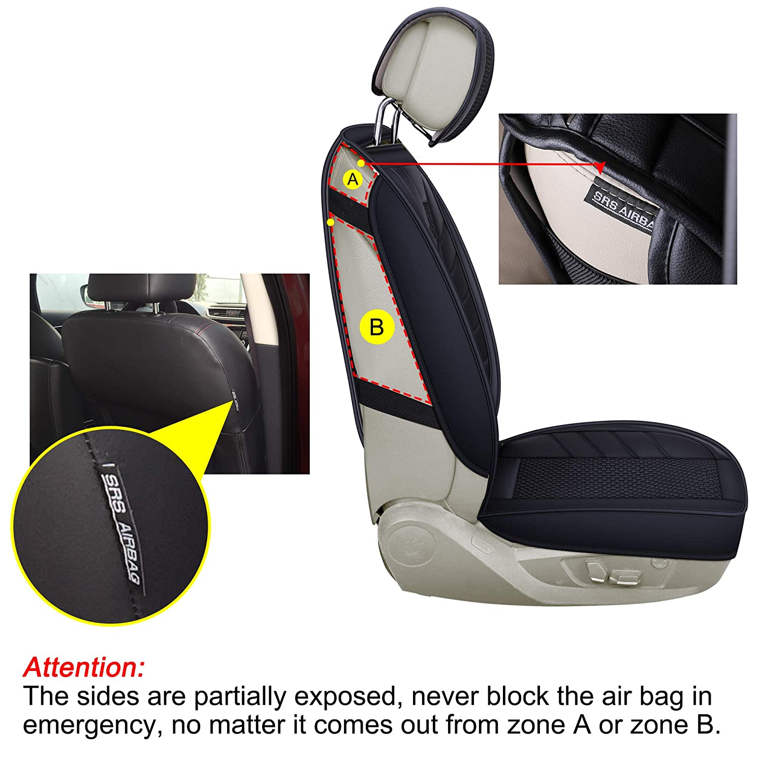 Black Full Set LUCKYMAN CLUB Breathable 5 Car Seat Covers Fit for Most SUV Sedan Truck Nicely Fit for 2018 Chevy Equinox Cruze 2019 Toyota Tacoma TRD PRO Double Cab RAV4 Corolla Camry