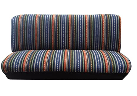 Baja Blue Saddle Blanket Bench Seat Cover Standard Fit Colorful Stripes For Nissan Versa