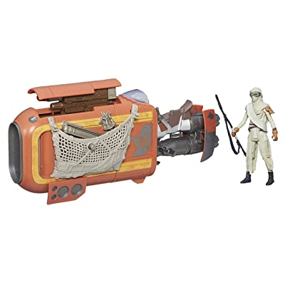 Star Wars The Force Awakens 3.75-inch Vehicle Rey's Speeder Bike (Jakku): Toys & Games