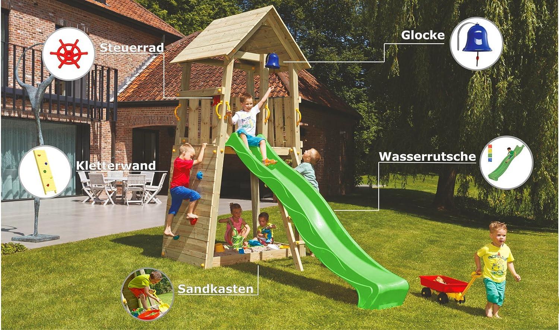 Klettergerüst Mit Sandkasten : Blue rabbit 2.0 spielturm belvedere mit rutsche kletterturm