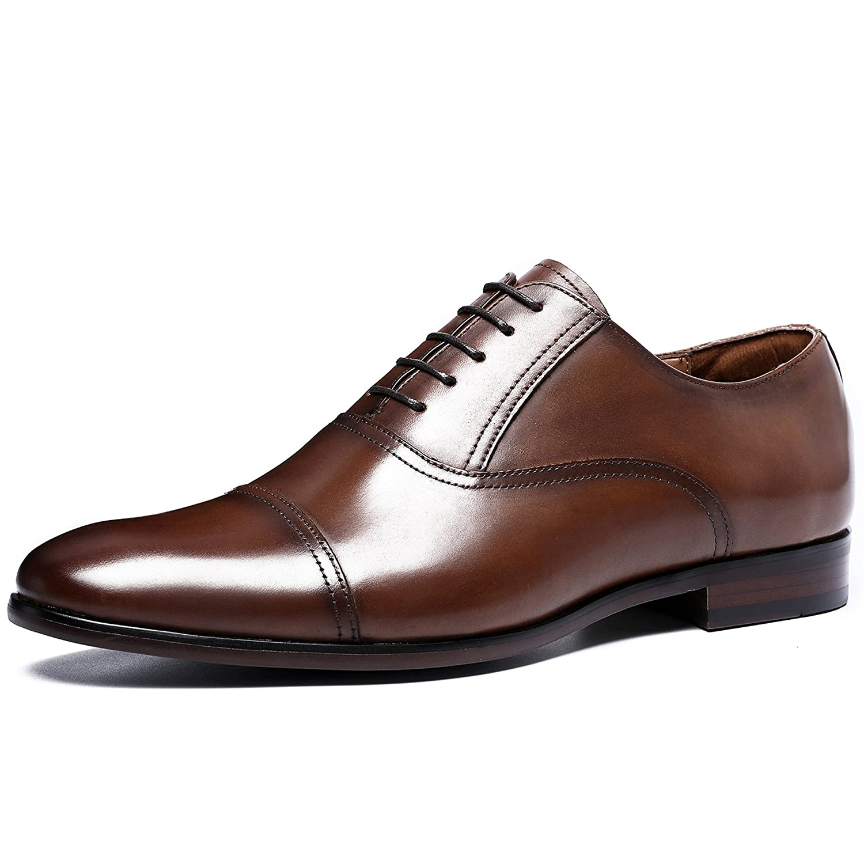 Chaussures de mariage à bout pointu à lacets marron Business homme 7xSyG1