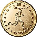 "Tokyo Sports Gold Medals""100m"" 東京 スポーツ ゴールド オリジナルコイン""100m"" 記念メダル"