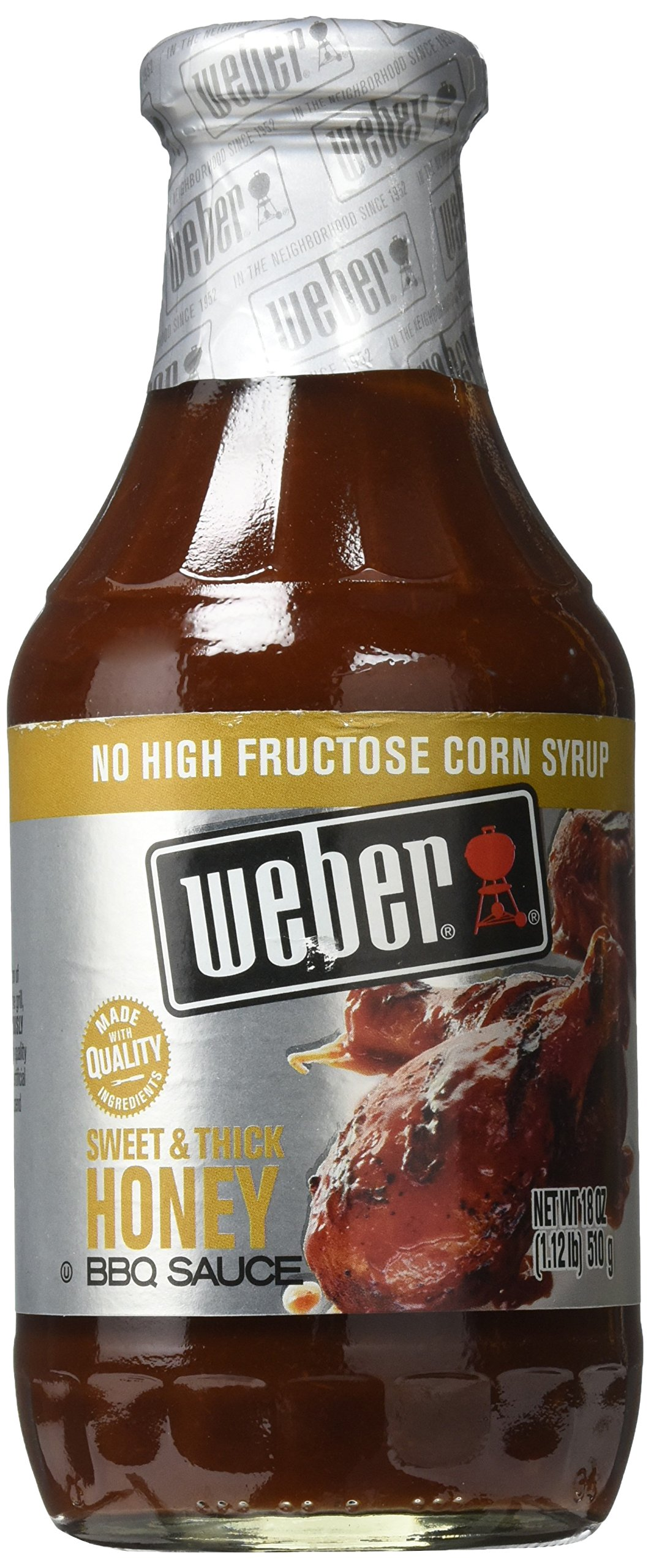 Weber Sweet & Thick Honey BBQ Sauce, 18 oz.