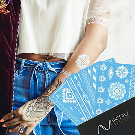 AKTIIV - Tatuajes temporales de estilo metálico: Amazon.es: Hogar