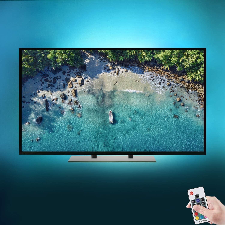 Tiras LED Iluminación (118in/3m en 6 bandas), Tira de LED para HDTV de 40-60 pulgadas con control remoto de 17 teclas - Retroiluminación de TV Reduce el cansancio visual: Amazon.es: Iluminación