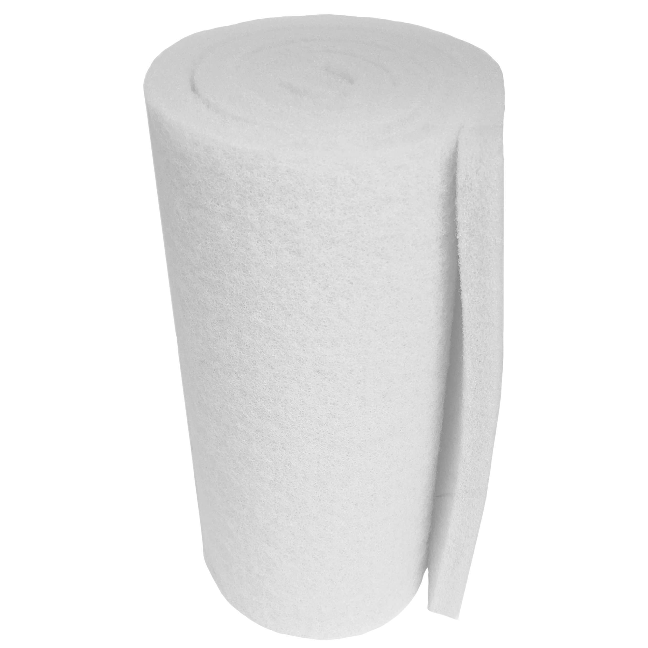 Aquatic Experts Classic Koi Pond Filter Pad FINE - 18 Inches by 72 Inches by 3/4'' to 1 Inch - White Bulk Roll Pond Filter Media, Ultra-Durable Fish Pond Filter Material USA by Aquatic Experts
