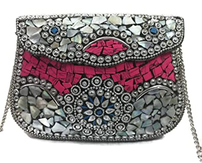 62e11bf5eaa Pink Sling Bag Indian Ethnic Clutches for Women Party bag for women Wedding  Box Clutch for