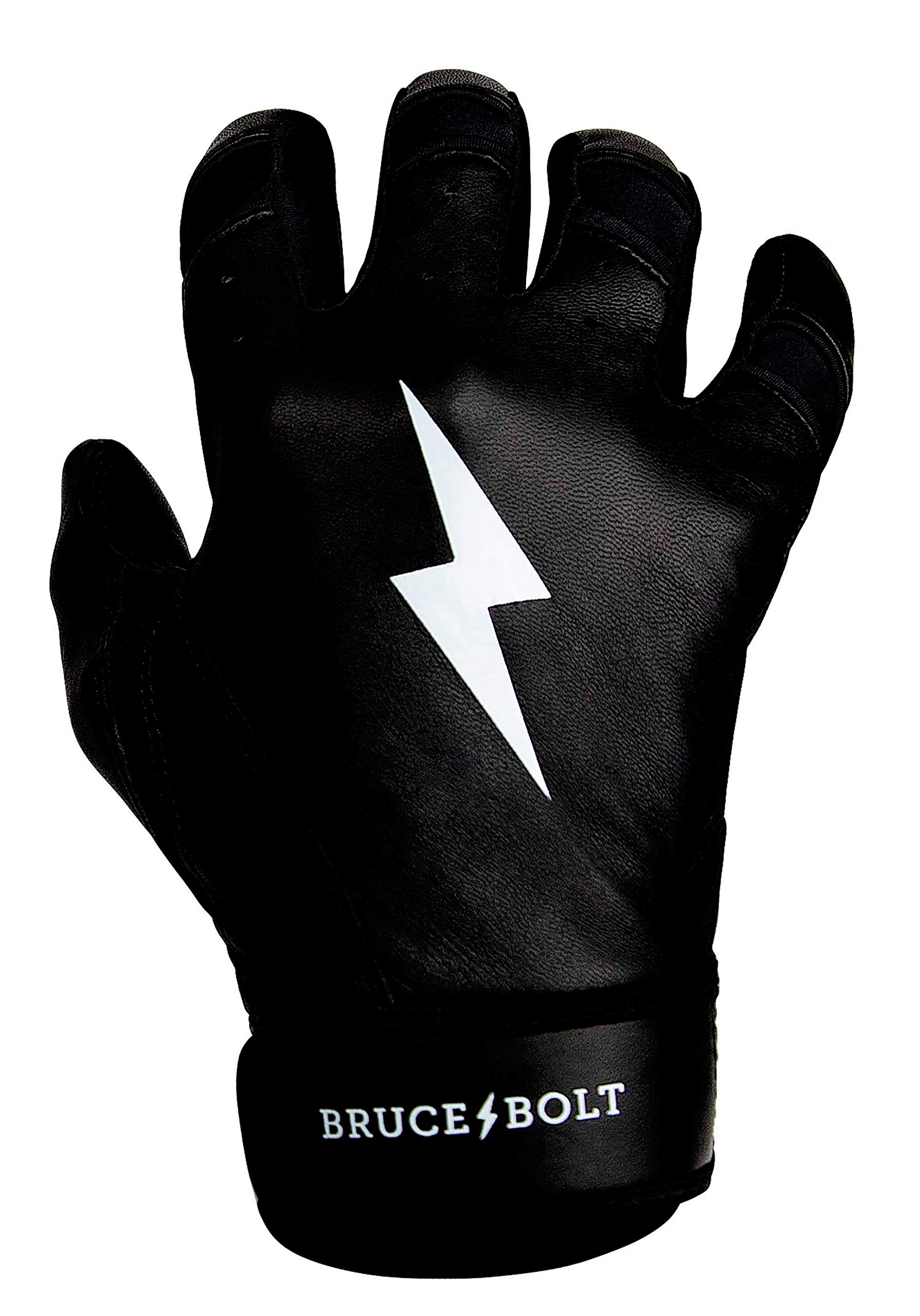 BRUCE+BOLT Premium Short Cuff Batting Gloves - Black XLarge SBXL