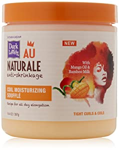 Curly Hair Products by SoftSheen-Carson Dark and Lovely Au Naturale Coil Moisturizing Souffle, Mango Oil and Bamboo Milk, Defines and Softens Tight Curls and Coils, Paraben Free, 14.4 oz