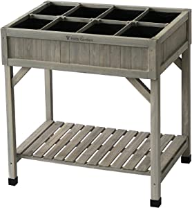 VegTrug HGMK6010GW USA Custom Herb Planter, Gray