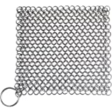 Blisstime Cast Iron Cleaner Premium Stainless Steel Chainmail Scrubber (15)