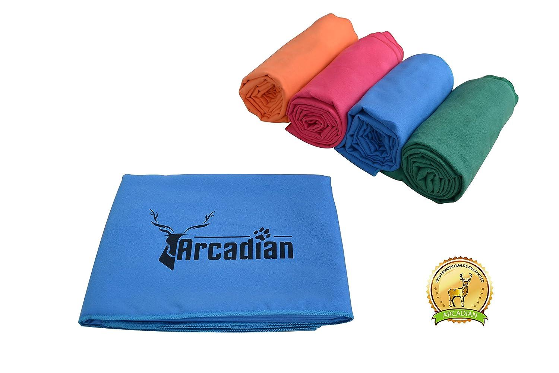 Grande serviette de chien. Ces serviettes vibrantes constituent le parfait cadeau pour votre animal de compagnie. Faite de microfibre de haute qualité, ces serviettes sont légères, rapide à sécher, et très absorbantes. Taille convenable pour toutes les rac