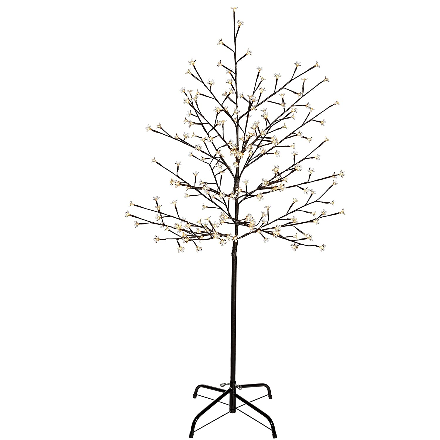 WeRChristmas 5 ft/1.5 m Pre-Lit Illuminated Cherry Blossom Tree with ...