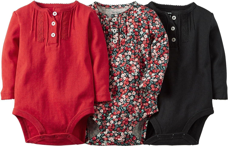 Carters Clothing Long Sleeve Bodysuits Pintuck Image 2