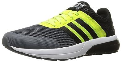 buy online cb88b 9a752 adidas Mens Cloudfoam Flow 2.0 Running Shoe Solar YellowBlack 9.5 D -  Medium