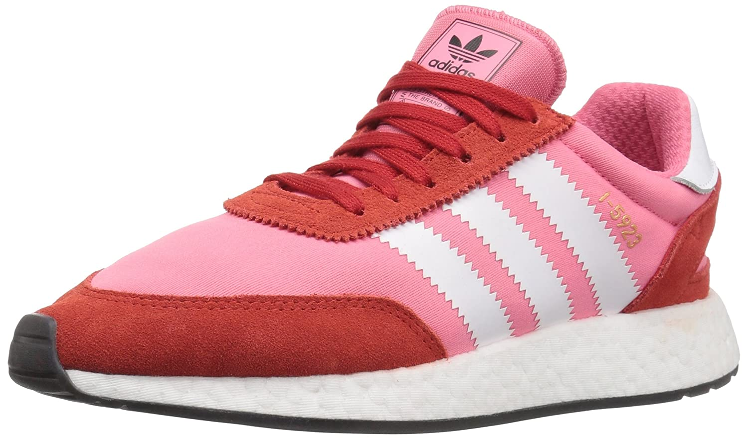 adidas Originals Women's I-5923 B07C6V6NLL 10.5 B(M) US|Chalk Pink/White/Red