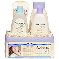Aveeno Baby Daily Bathtime Solutions Gift Set to Nourish Skin for Baby and Mom,...