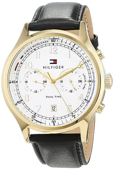 Tommy Hilfiger Reloj Análogo clásico para Hombre de Cuarzo con Correa en Cuero 1791386: Amazon.es: Relojes