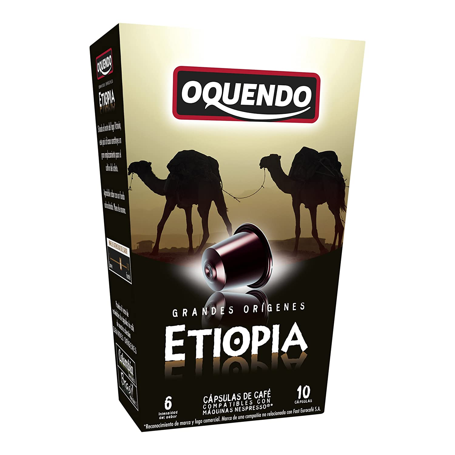 80 Cafés Oquendo Nespresso Compatible Coffee Capsules – (ETIOPIA) Single Origin Premium Quality Nespresso coffee - 8 Boxes 10 capsules in each box - 80 cups ...