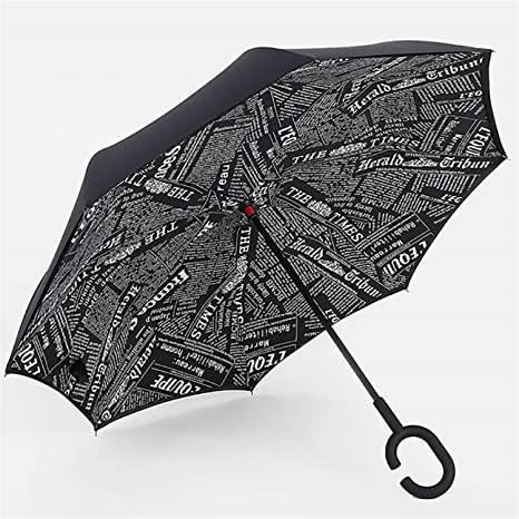 Miki Da Inverted Umbrella Double Layer sun parasol Women Rain Reverse Umbrellas male guarda chuva invertido