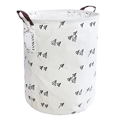 Foldable Waterproof Canvas Laundry Basket Room Large Toys Clothes Storage Bags Laundry Baskets & Hampers