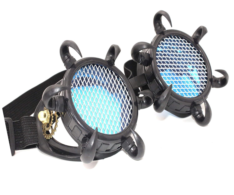 MFAZ Morefaz Ltd Cyber De Soleil des Lunettes de Soudage Welding Goggles LED Steampunk Antique Cosplay Sunglasses Round Glasses Party Fancy Dress Design 1 Gold
