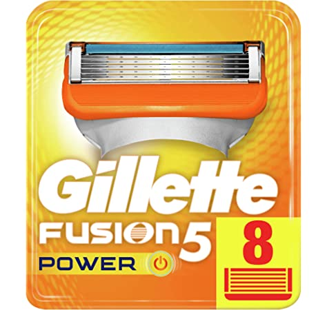 Gillette Fusion Cuchillas de afeitar para hombres 8 unidades ...