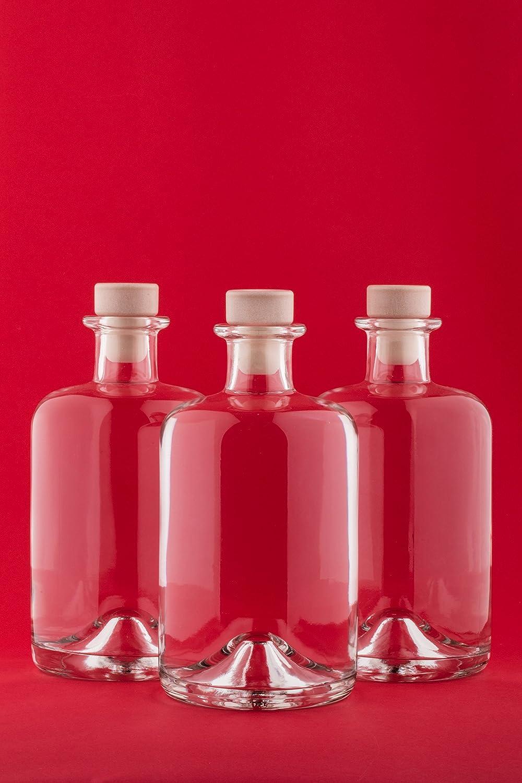 3 x 500 ml Leere Glasflaschen Apotheker HGK Weinflasche Schnapsflasche Essig Öl Glasflaschen 0,5 Liter l Nr 1 von slkfactory (3 Stück) SLK GmbH
