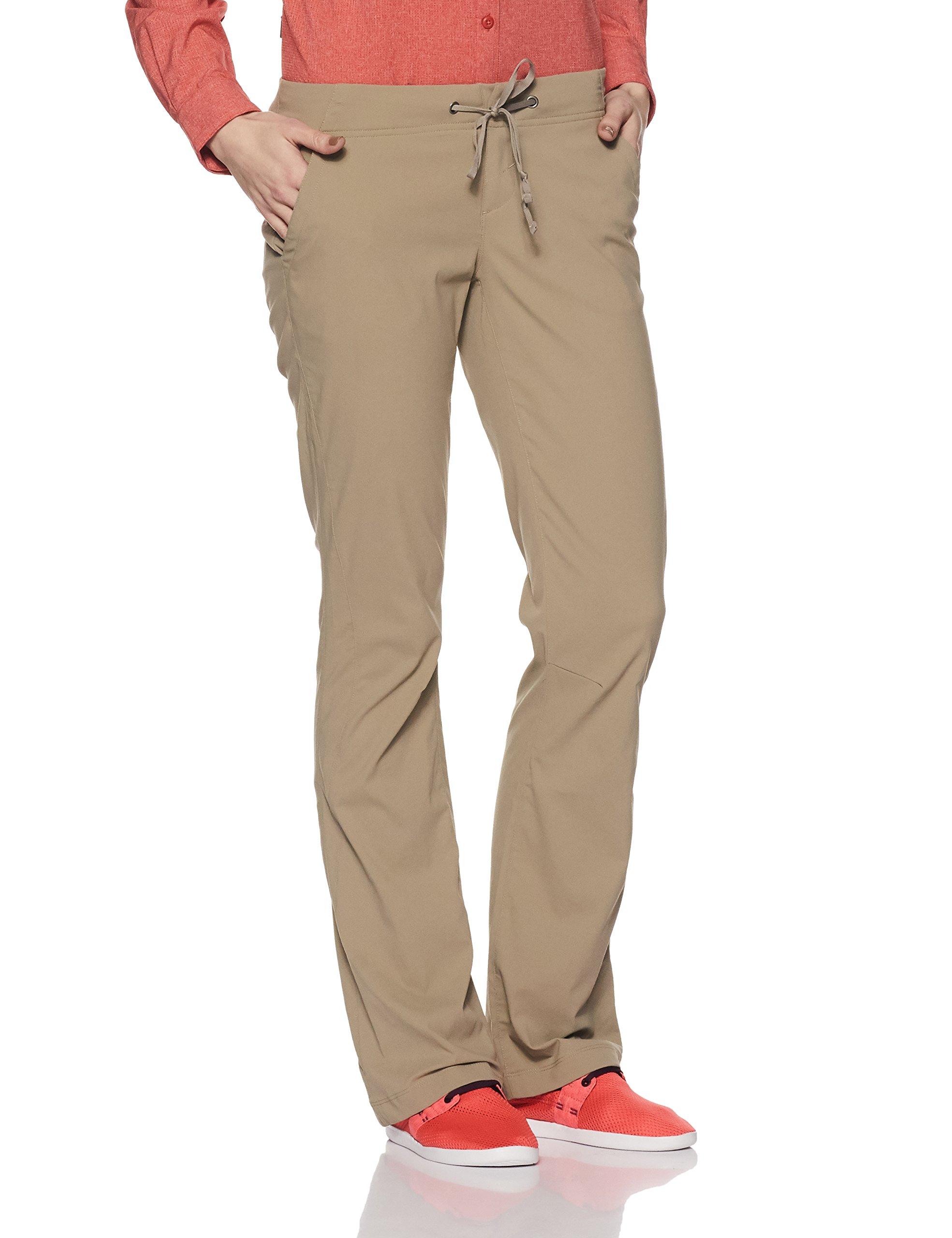 Columbia Women's Anytime Outdoor Boot Cut Pant Pants, tusk, 8Regular