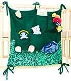 Tieni la stanza del bebè in ordine con il portaoggetti Babypeta - il portaoggetti per la stanza del bebè da appendere per giocattoli, pannolini, ciucci & altri oggetti, si adatta a culla & fasciatoio - VERDE