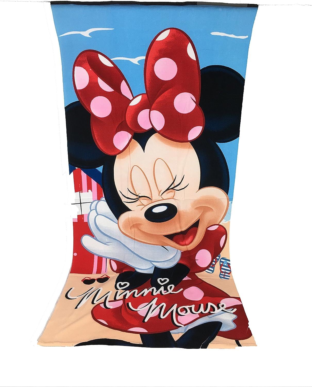 /Disney Minnie Telo Mare /70/x 140/cm Mouse/ Telo Mare in Microfibra/