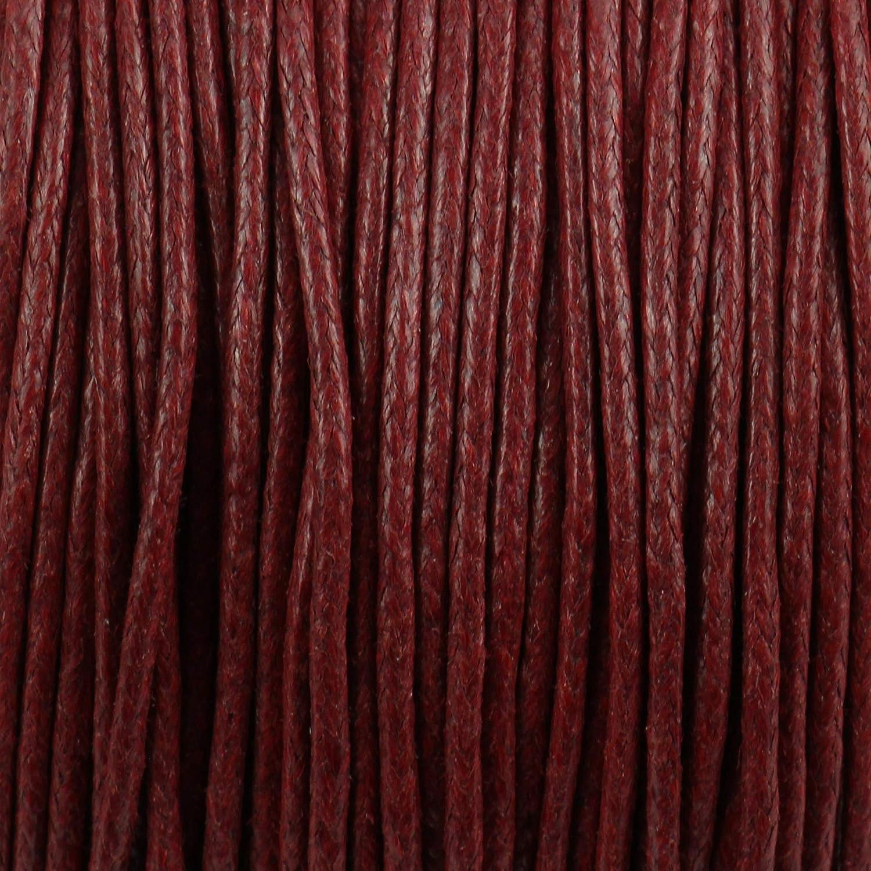 1245512-A trendmarkt24 Baumwollkordel 2mm Fuchsia gewachst 100 Meter Baumwollschnur Wachsband Bastelschnur Kordel Dekoschnur Band