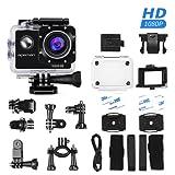 APEMAN アクションカメラ スポーツカメラ 30メートル防水 170度広角レンズ フルHD 1080P高画質 1050mAh電池
