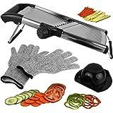 Mandoline Slicer, Vegetable Potato Slicer, Julienne Slicer, Onion Cutter, with Stainless Steel Adjustable Blade. Cut…