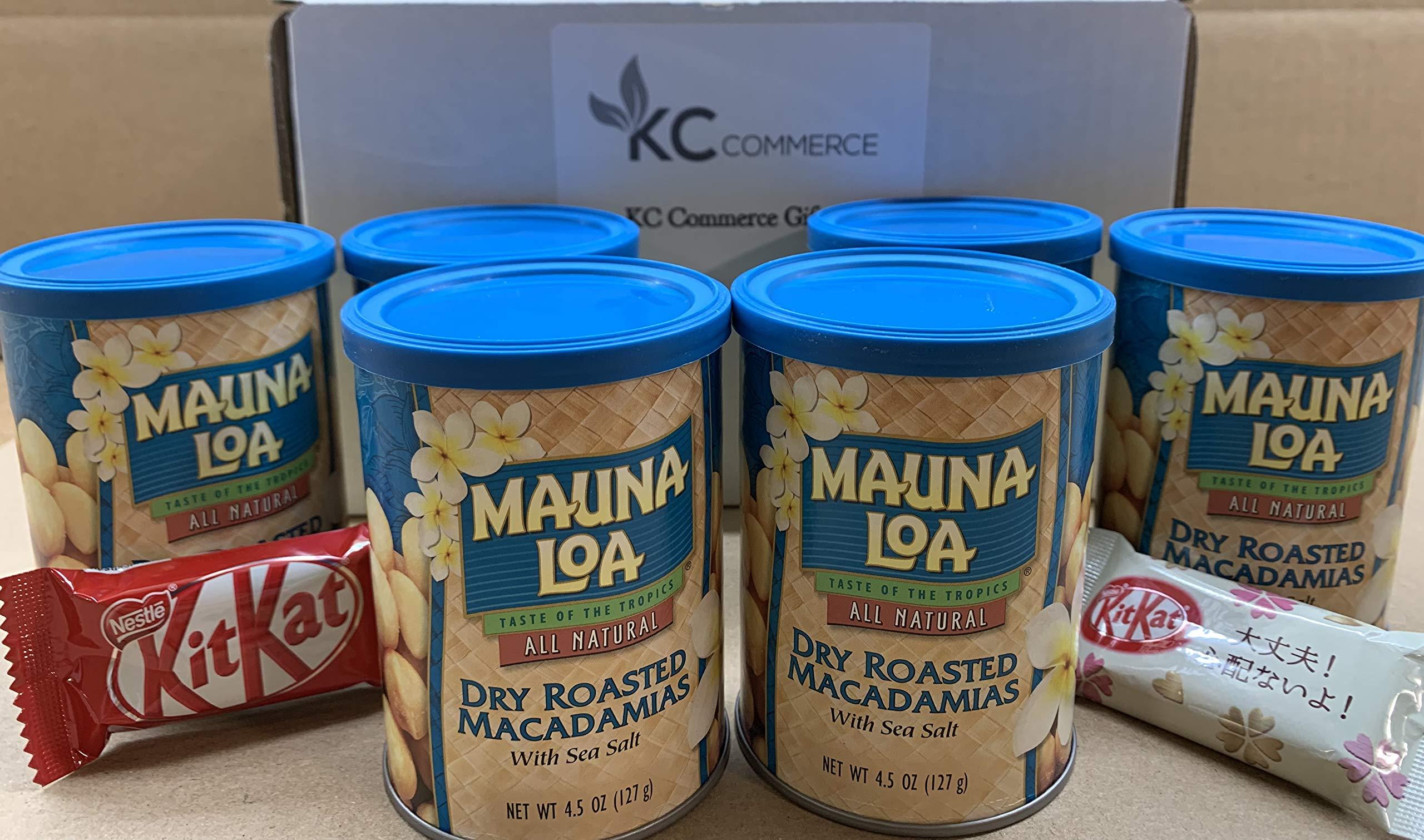 Mauna Loa Dry Roasted Macadamia Nut With Sea Salt 4.5 Ounce Pack of 6 by KC Commerce
