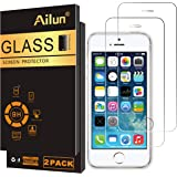 Ailun Screen Protector Compatible iPhone 5S iPhone Se iPhone 5 iPhone 5C 2 Pack 2.5D Edge Tempered Glass Compatible iPhone 5