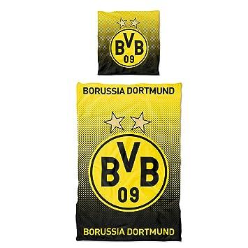 Borussia Dortmund Bvb Bettwäsche Punkteverlauf 135 X 200 Cm One