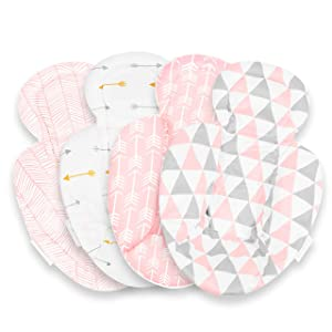 Infant Insert Compatible With 4Moms Mamaroo and Rockaroo– Car Seat Insert 2 Pack – Reversible Infant Car Seat Insert –Rockaroo and Mamaroo Newborn Insert – Soft Plush Minky Car Seat Head Support Inser