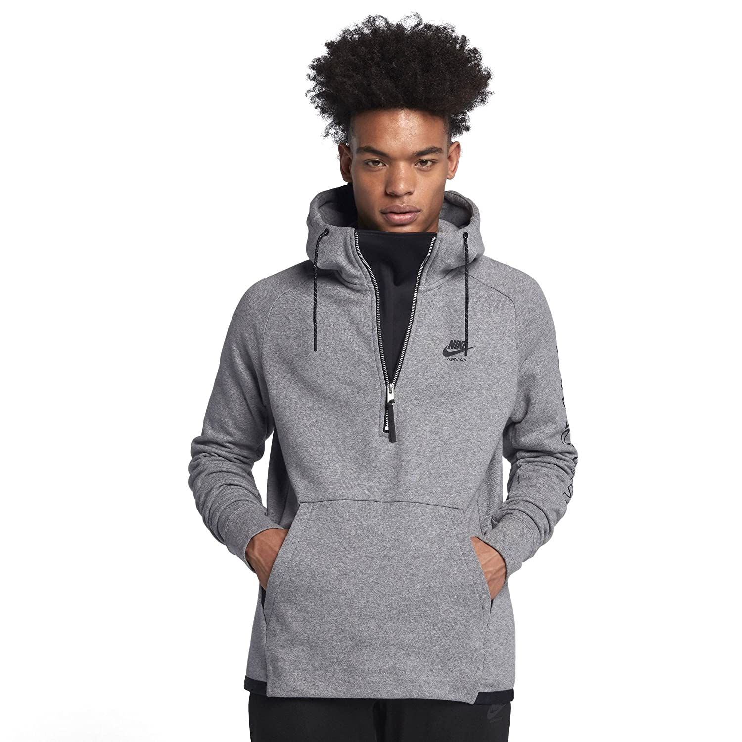 04b27f3be582 Amazon.com  Nike Sportswear Air Max Pullover Hoodie Men 886075 (Carbon  Heather Black