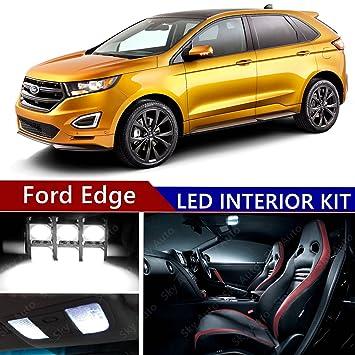 Amazon Com Ford Edge   Led Premium Xenon White Light Interior Package Kit  Pcs Automotive