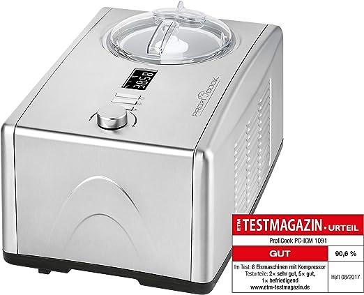 ProfiCook PC-ICM 1091 150W 1.5L Acero inoxidable máquina para ...