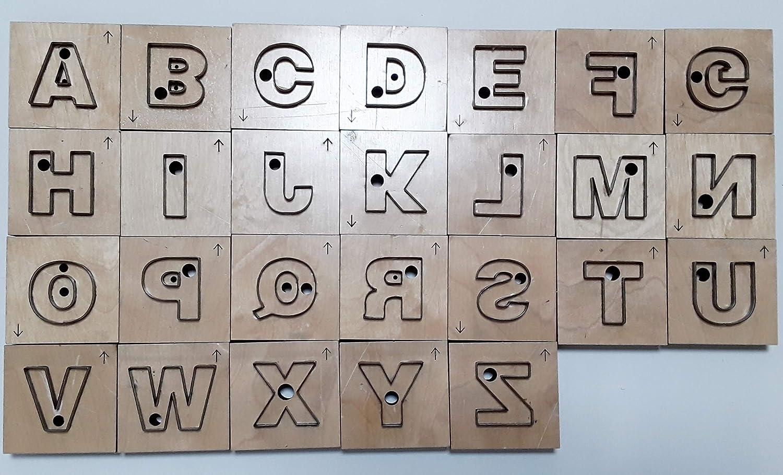 レザークラフト 抜き型 トムソン型 ビク型 打ち抜き 工具 道具 (アルファベット) B07Q14NH78  アルファベット
