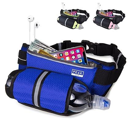 Amazon.com   Peak Running Belt with Water Bottle Holder   Sports ... 3ab01acc8b864