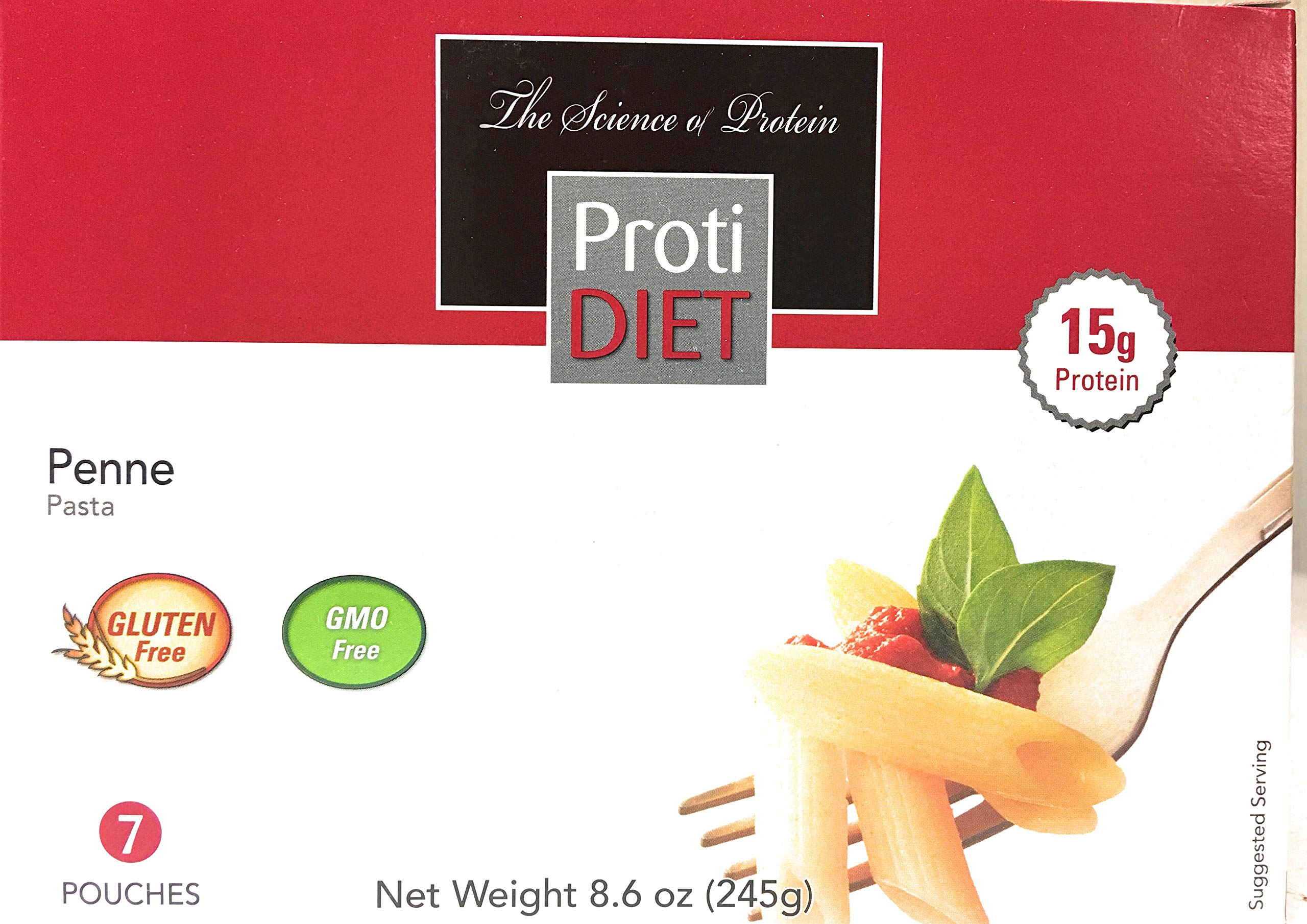 Proti Diet High Protein/Low CARB PENNE Pasta by Being Well Essentials - 7 servings - 15g protien - only 110 calories by Protidiet
