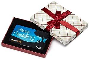 Amazon.com Gift Card in a Plaid Gift Box (Amazon Kindle Card Design)