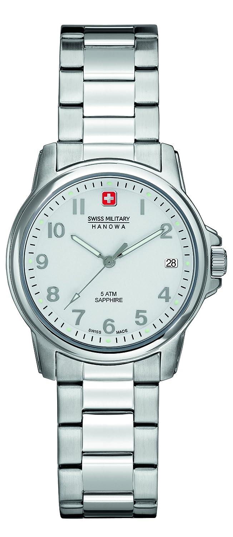 Swiss Military Swiss Soldier Lady Prime Damen Quarzuhr mit Silber Zifferblatt Analog-Anzeige und Silber Edelstahl