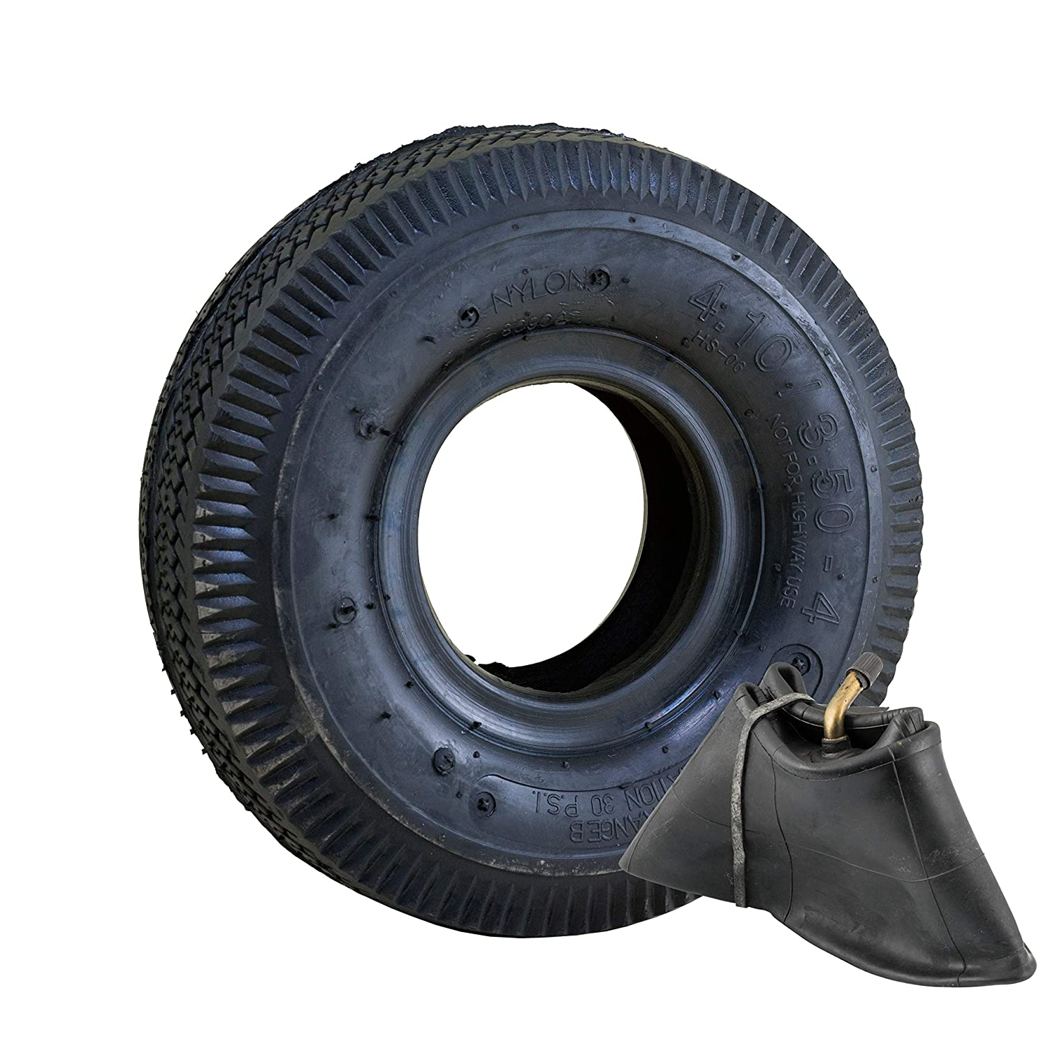 "Marathon 4.10/3.50-4"" Pneumatic (Air Filled) Hand Truck / All Purpose Utility Tire and Inner Tube"