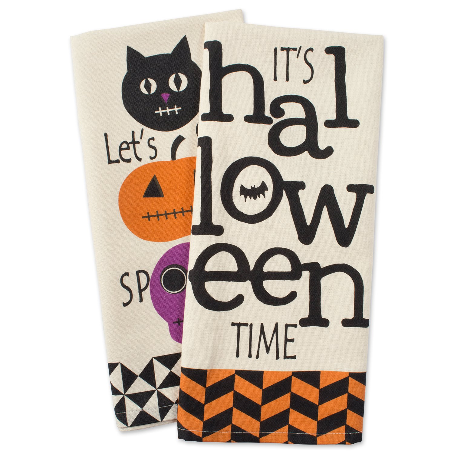 DII Cotton Halloween Holiday Dish Towels, 18x28 Set of 3, Decorative Oversized Kitchen Towels, Perfect Home and Kitchen Gift-All Hallows Eve 18x28 Set of 3 CAMZ37635