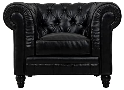 Charmant Tov Furniture Zahara Leather Club Chair, Black